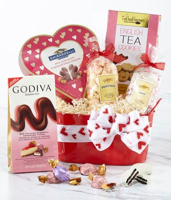 The Valentine Cookie and Chocolate Basket at From You Flowers
