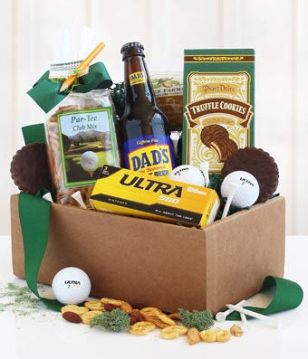 For the Golf Loving Dad Gift Basket