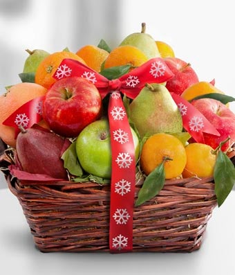 Fruitful Tidings Holiday Fruit Basket