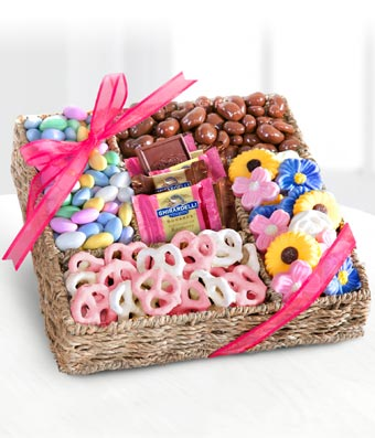 Mothers Day Chocolate Treat Basket at From You Flowers