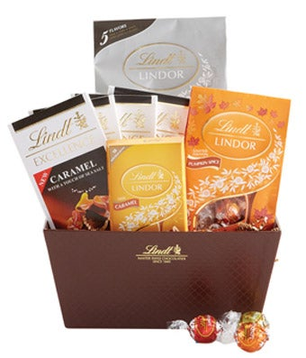 Lindt Fall Chocolate Basket