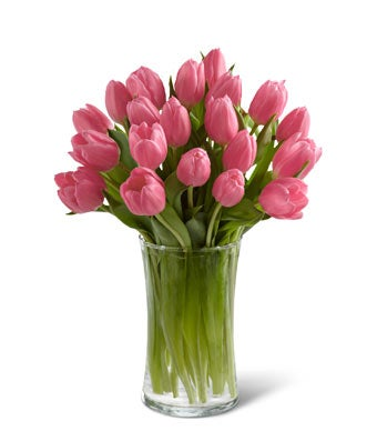 All pink tulip bouquet