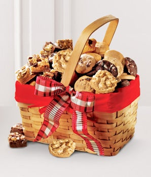Mrs. Fields cookies delivered in basket