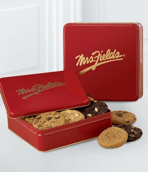 Mrs. Fields® Tin with One Dozen Assorted Cookies
