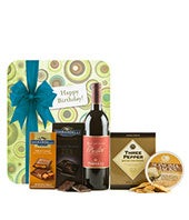 Happy Birthday Wine & Chocolate Basket