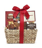 Chocolate, cookies and more basket