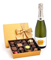 Veuve Clicquot Demi-Sec & 19-pc Godiva Chocolates