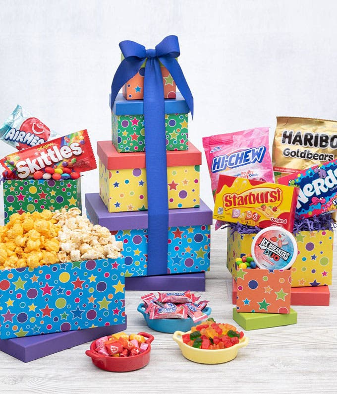 Birthday candy, cookies, popcorn and more