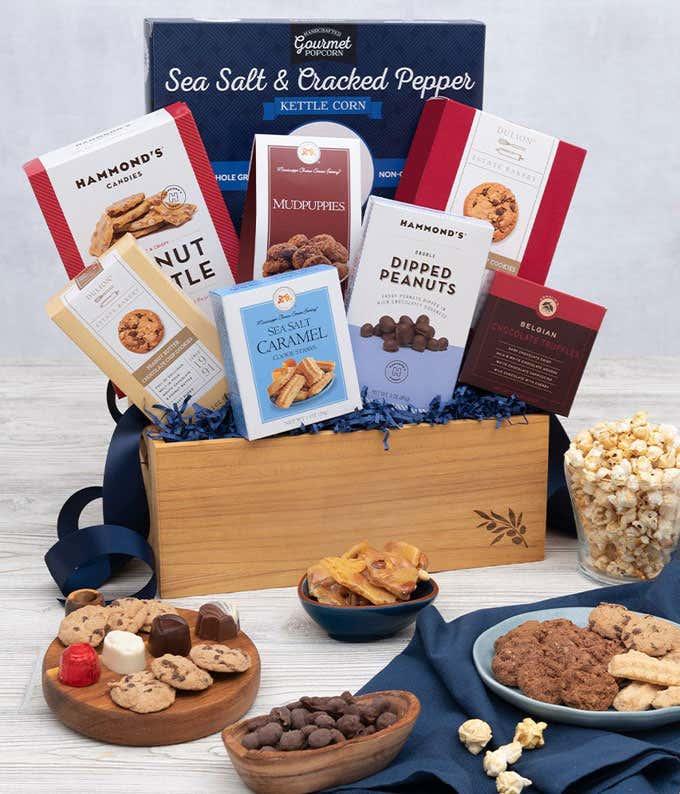 Sweet and Salty Chocolate Treats Basket