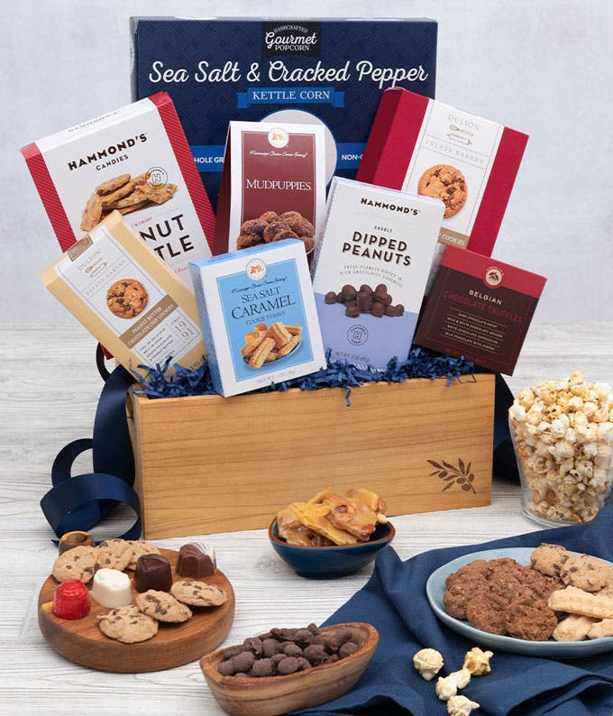 Sweet and Salty Chocolate Treats Basket