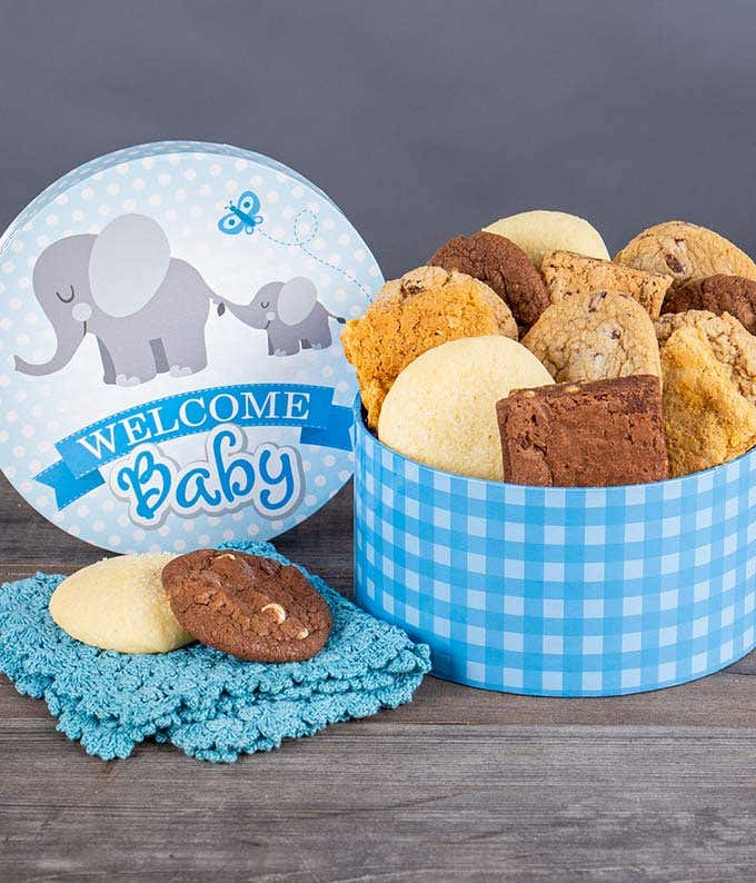 New Baby Boy Cookies and Brownies