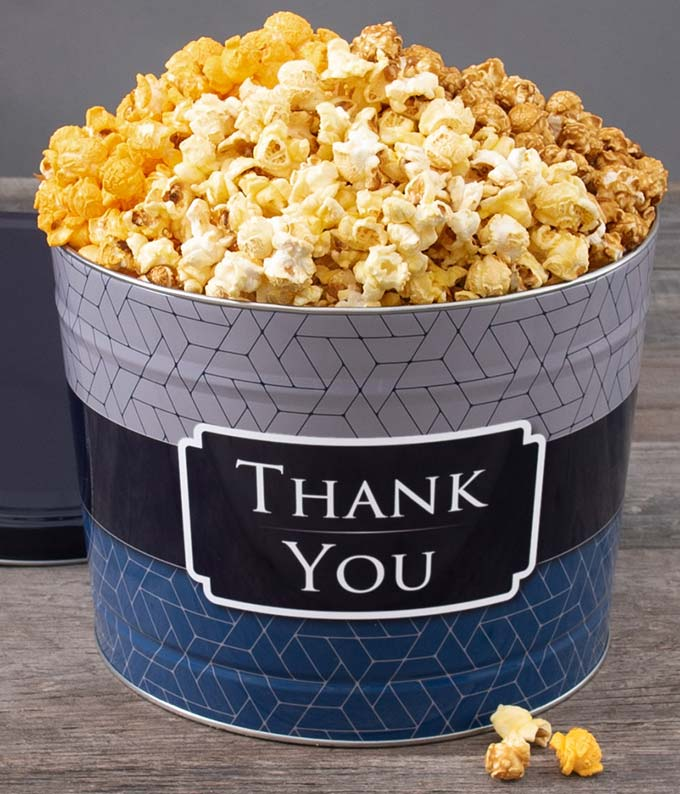 Thank You Kettle Popcorn Tin - Deluxe