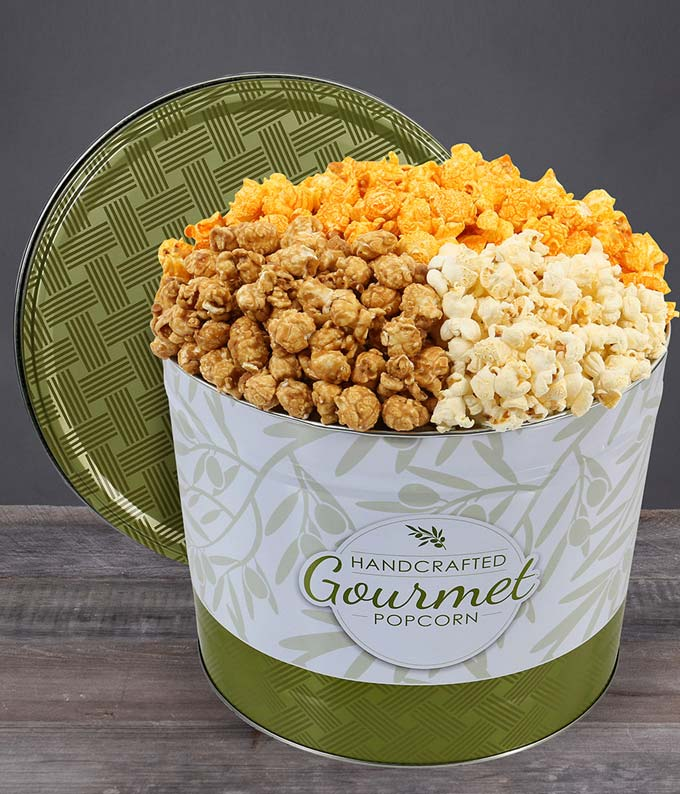 Gourmet Kettle Popcorn Tin - Deluxe