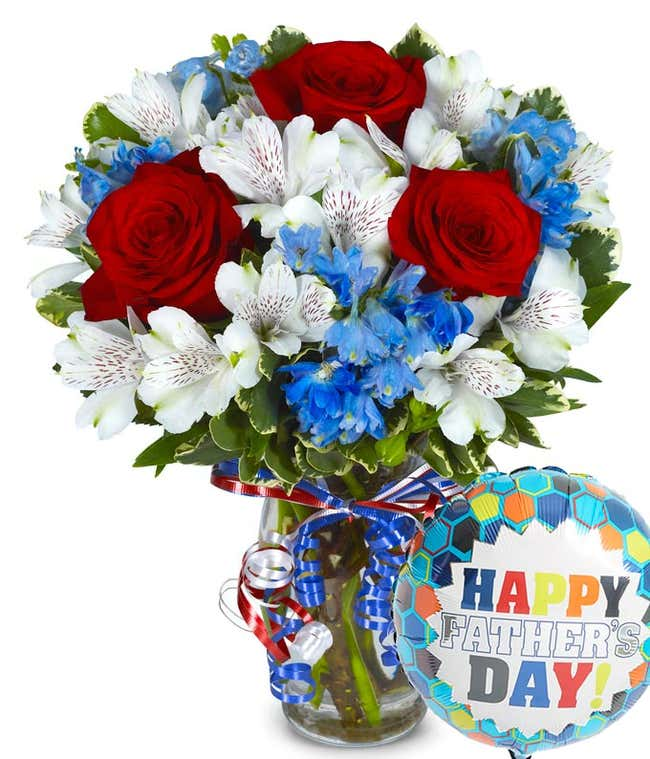 Red White & Blue Bouquet for Dad