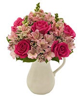 Pink Petals Bouquet in a Pitcher