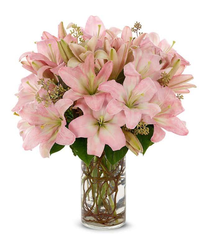 Stunning Pink Lilies