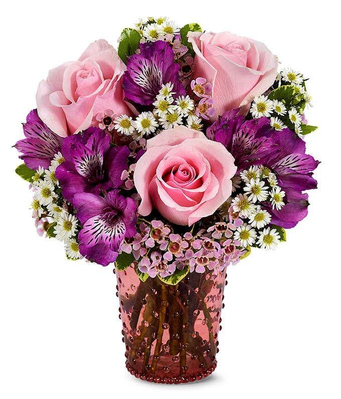 Pink Rose Hobnob Bouquet