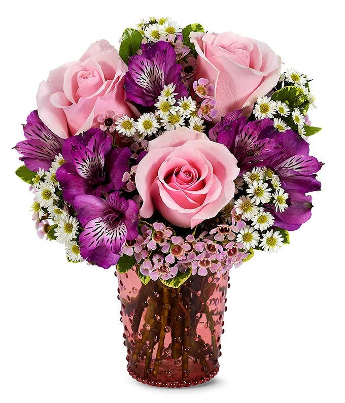 Pink Rose Hobnob Bouquet