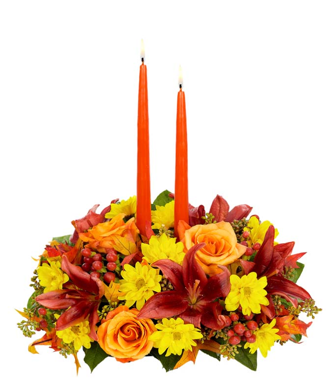 Thanksgiving rose centerpiece