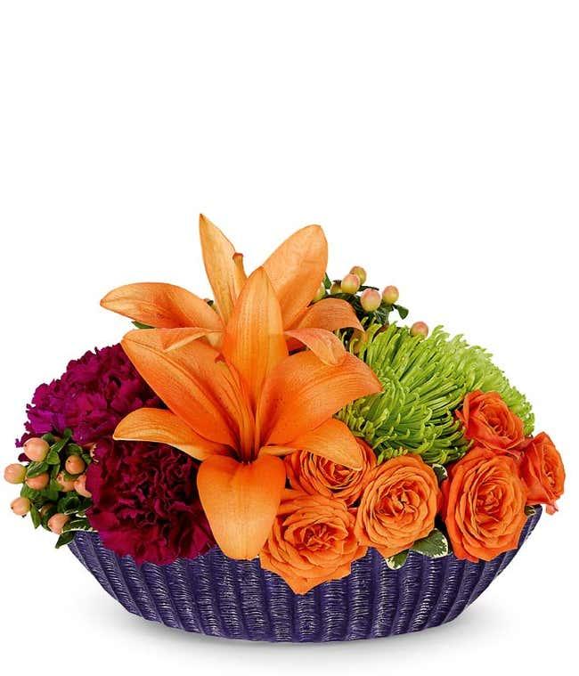 Orange Floral Centerpiece