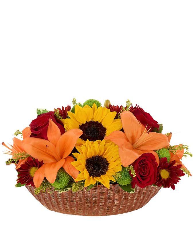 Many Thanksgiving Flower Centerpiece