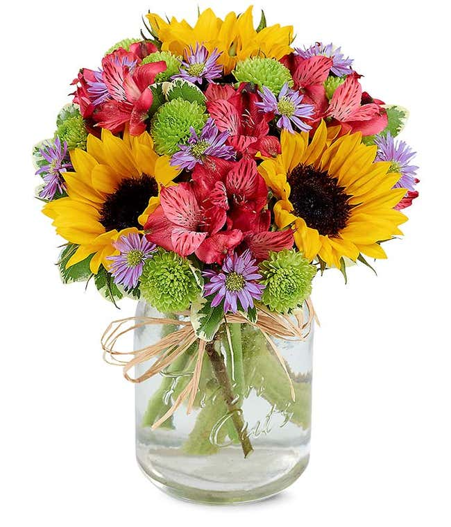 Flower Fields Mason Jar
