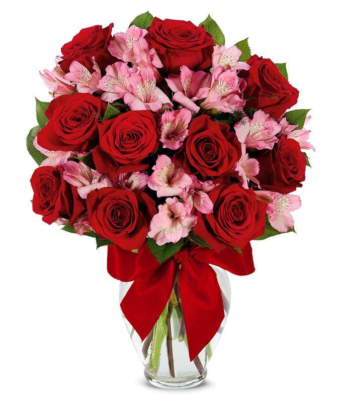 Rose & Alstroemeria Romance Bouquet