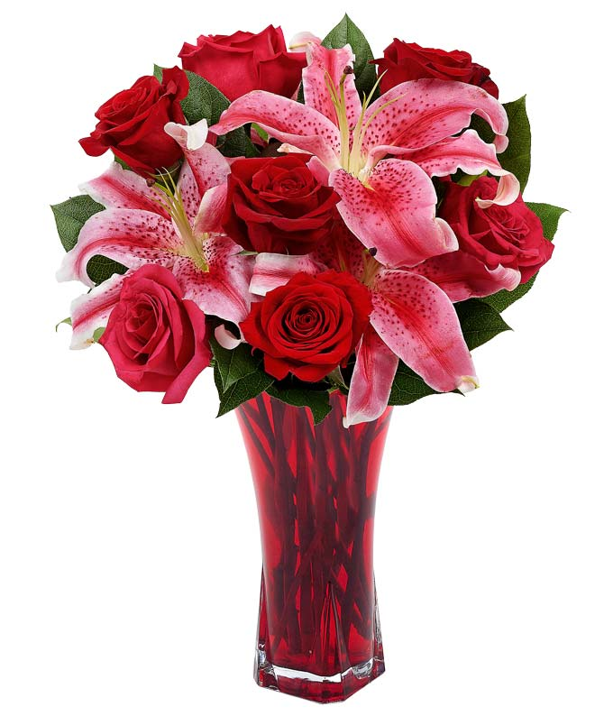 Raspberry Red Kisses Arrangement