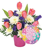 Happy Mother's Day Basket with Balloon