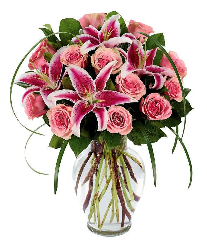 Sophisticated Rose & Stargazer Bouquet