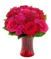 Radiant Red Romance Bouquet
