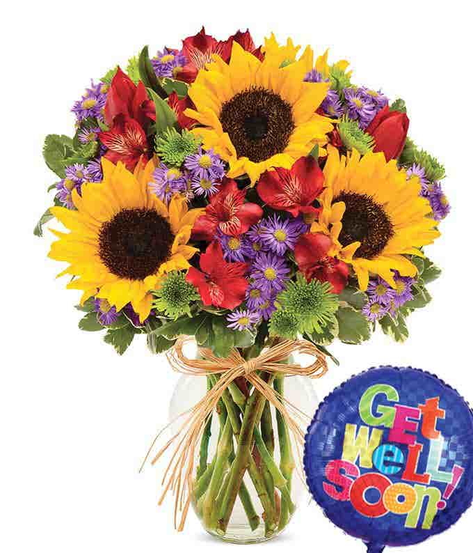 Mixed Floral Celebration Get Well Bouquet