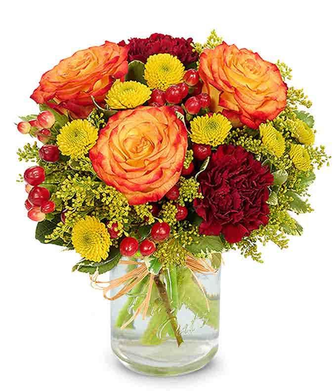 Shimmering Harvest Bouquet