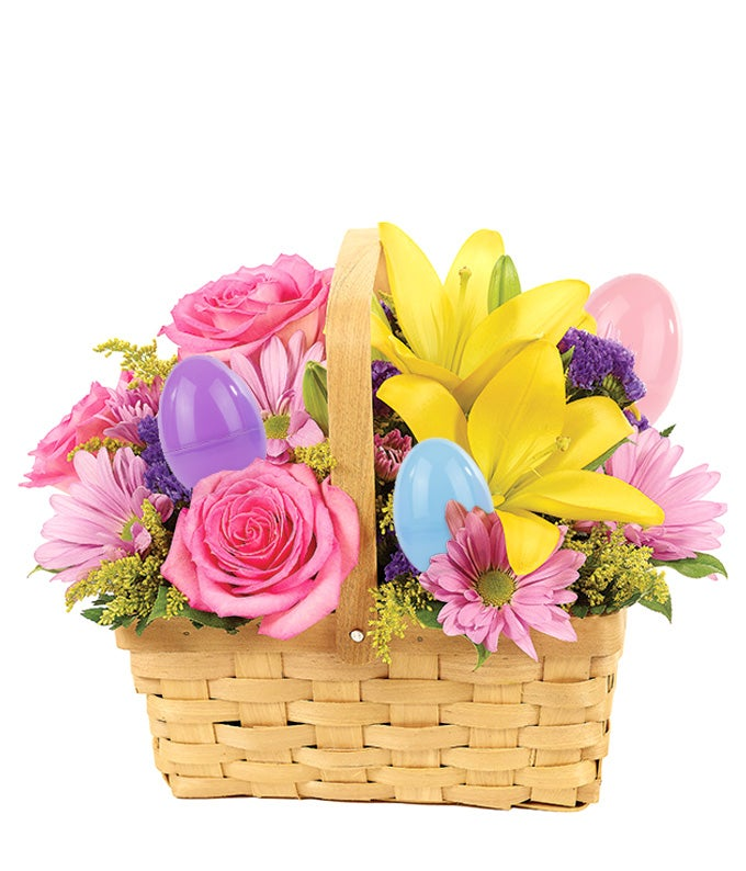 Easter Egg Floral Basket