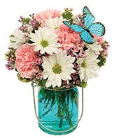 Quaint Blue Butterfly Bouquet