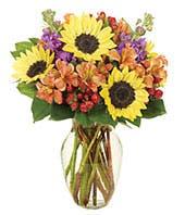 Fall mixed flower bouquet