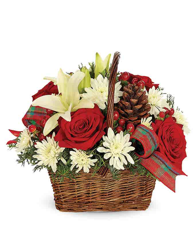 Rustic Christmas Basket
