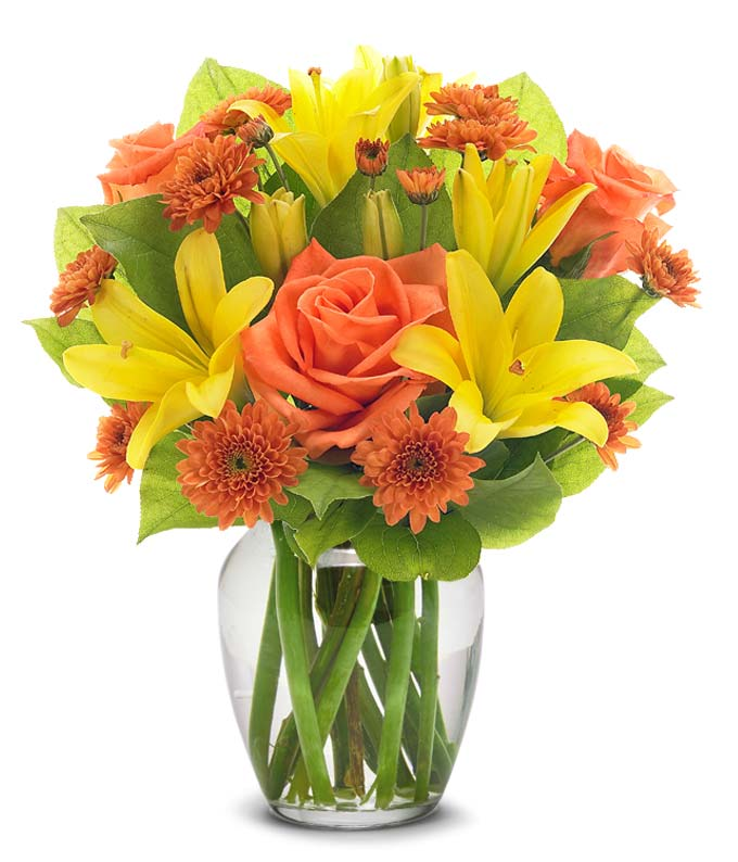 Sunny Rose and Lily Bouquet