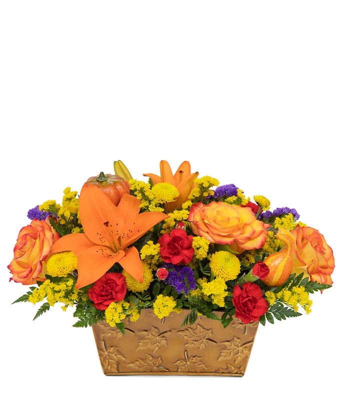 Autumn Breeze Flower Basket