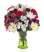 Holiday flowers in rose, mum and alstroemeria