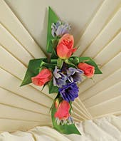 Flower Cross Casket Decoration