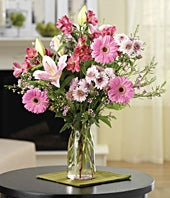 Deluxe Pink Flower Bouquet