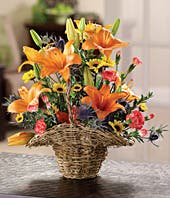 Autumn Floral Basket