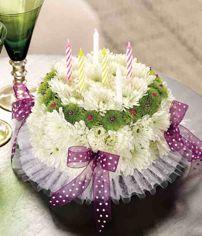 It's Your Happy Birthday Flower Cake