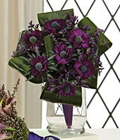 Maid-of-Honor bouquet of lavender flowers
