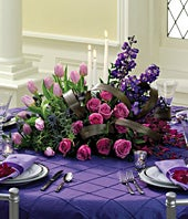 Purple Passion Reception Centerpiece