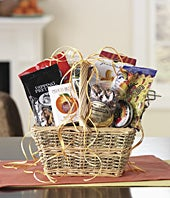 Gift variety basket with sweet and savory treats