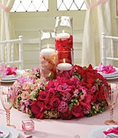 Blushing Beauty Reception Centerpiece