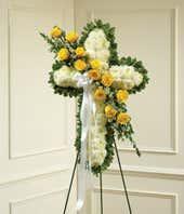 Yellow & White Standing Cross