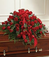 Red Rose Half Casket...